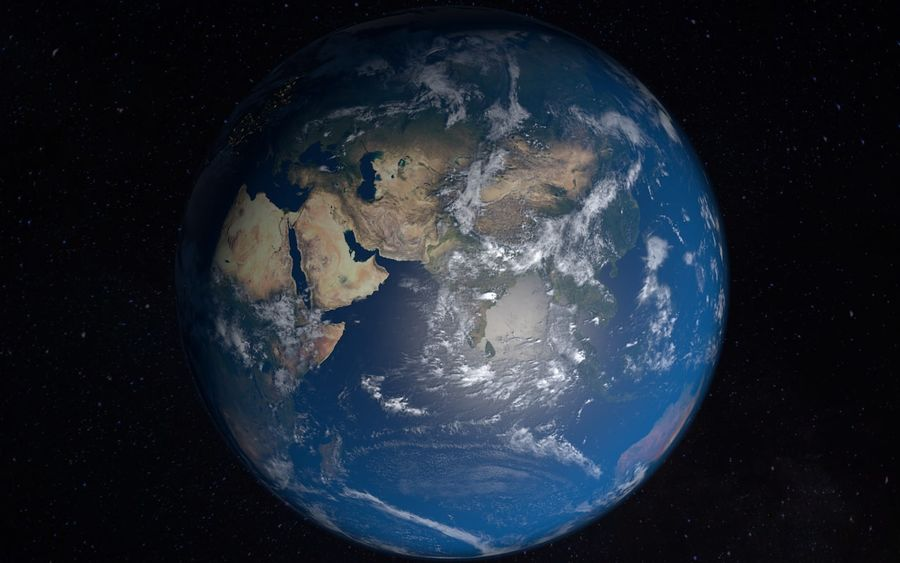 16k Planet Earth - Day & Night royalty-free 3d model - Preview no. 10