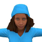 Nurse Female African (Rigged) 3d model