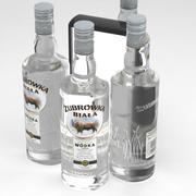 CEDC Vodka Zubrowka Biala White 700ml Bottle 3d model