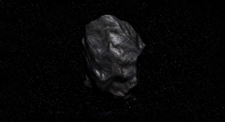 Asteroid royalty-free 3d model - Preview no. 5