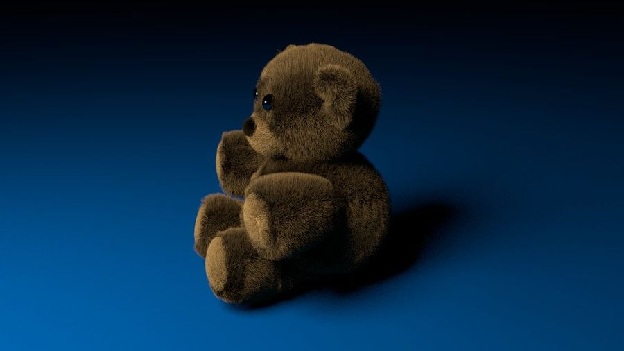 Stuffed Bear royalty-free 3d model - Preview no. 4
