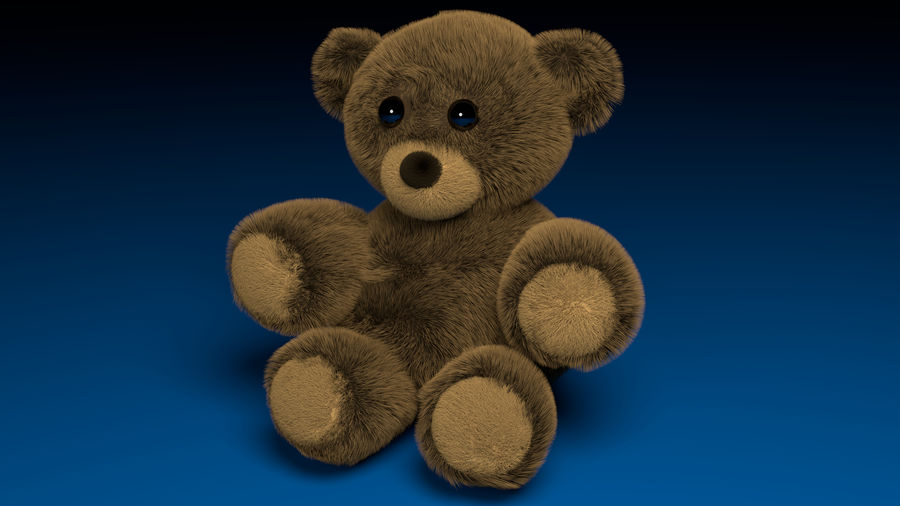 Stuffed Bear royalty-free 3d model - Preview no. 1
