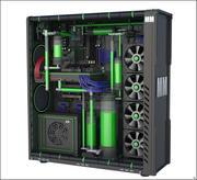 Computadora de juego modelo 3d