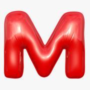 Folienballon Buchstabe M Rotes Modell 3d model