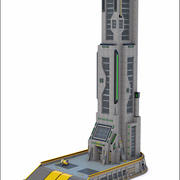 Sci-Fi Tower Building V2 3d model