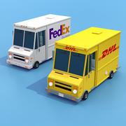 FedEx DHL Truck 3d model