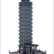 Sci-Fi SkyScraper Building V2 3d model