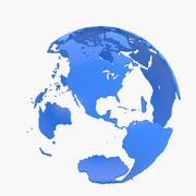 World map shell 3d model