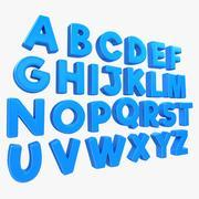 Alphabet Toon 3d model