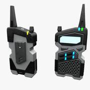 科幻广播 3d model