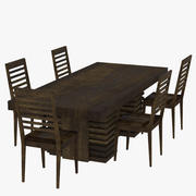 Extension Dining Table 3d model