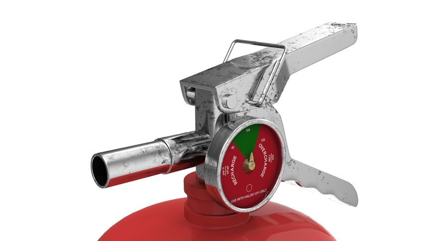 Fire Extinguisher royalty-free 3d model - Preview no. 4
