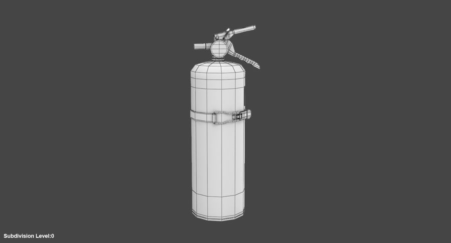 Fire Extinguisher royalty-free 3d model - Preview no. 9