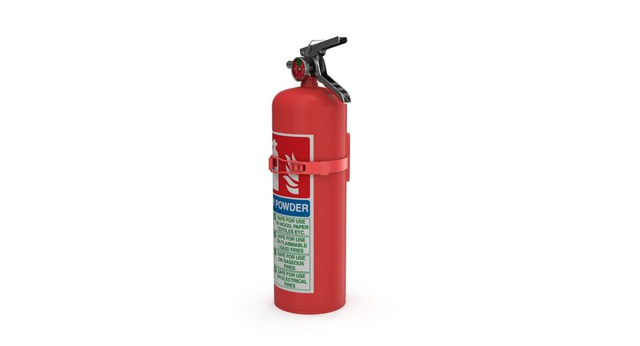 Fire Extinguisher royalty-free 3d model - Preview no. 7