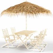 Capri 6 Piece Dining Set 3d model