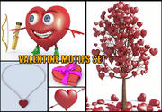 Valentine Motifs Set 3d model