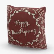 Świąteczne poduszki Czerwone Święto Dziękczynienia 3d model