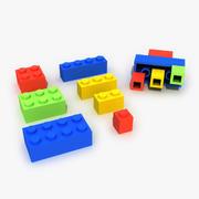 Ladrillos de lego modelo 3d