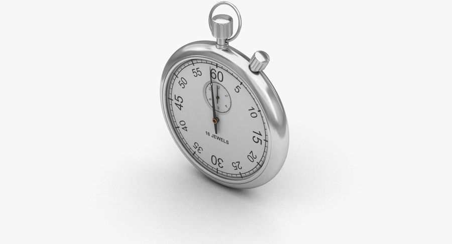 Stopwatch royalty-free 3d model - Preview no. 5