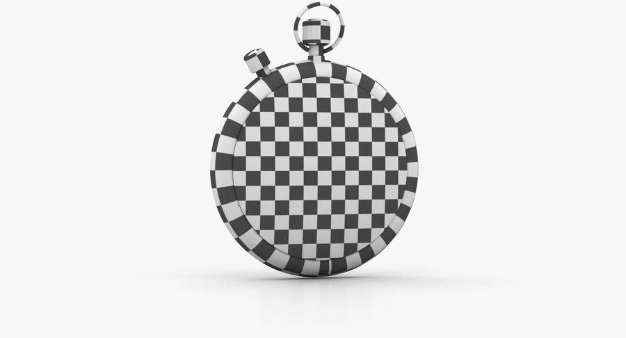 Stopwatch royalty-free 3d model - Preview no. 19
