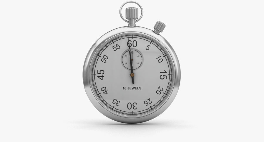 Stopwatch royalty-free 3d model - Preview no. 2