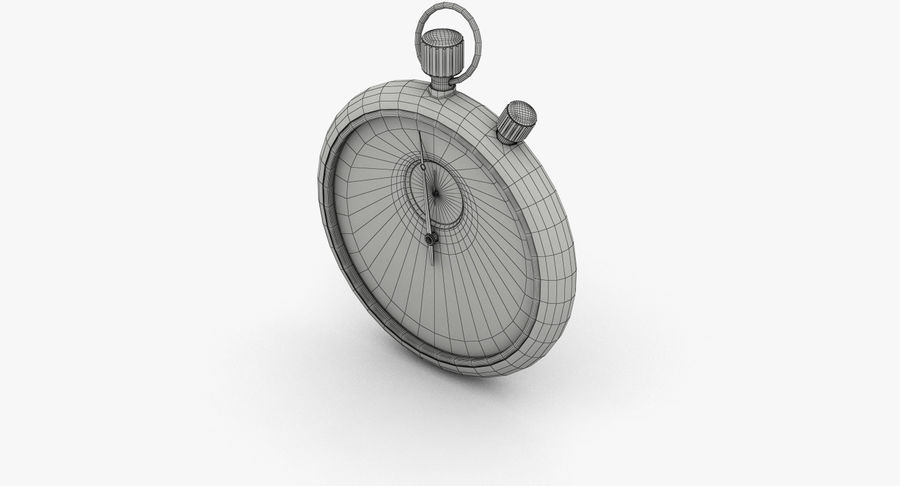 Stopwatch royalty-free 3d model - Preview no. 13