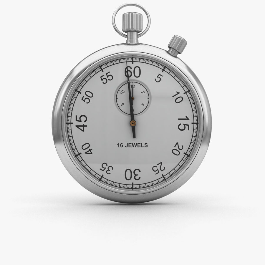 Stopwatch royalty-free 3d model - Preview no. 1