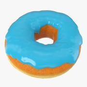 Blue Donut 3d model