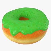 Green Donut 3d model