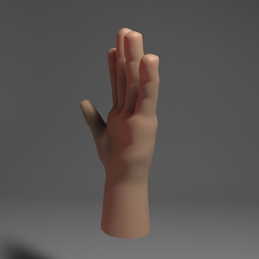 Toon Hand royalty-free 3d model - Preview no. 6