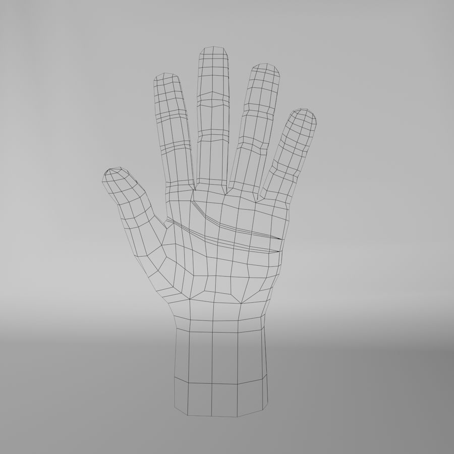 Toon Hand royalty-free 3d model - Preview no. 8