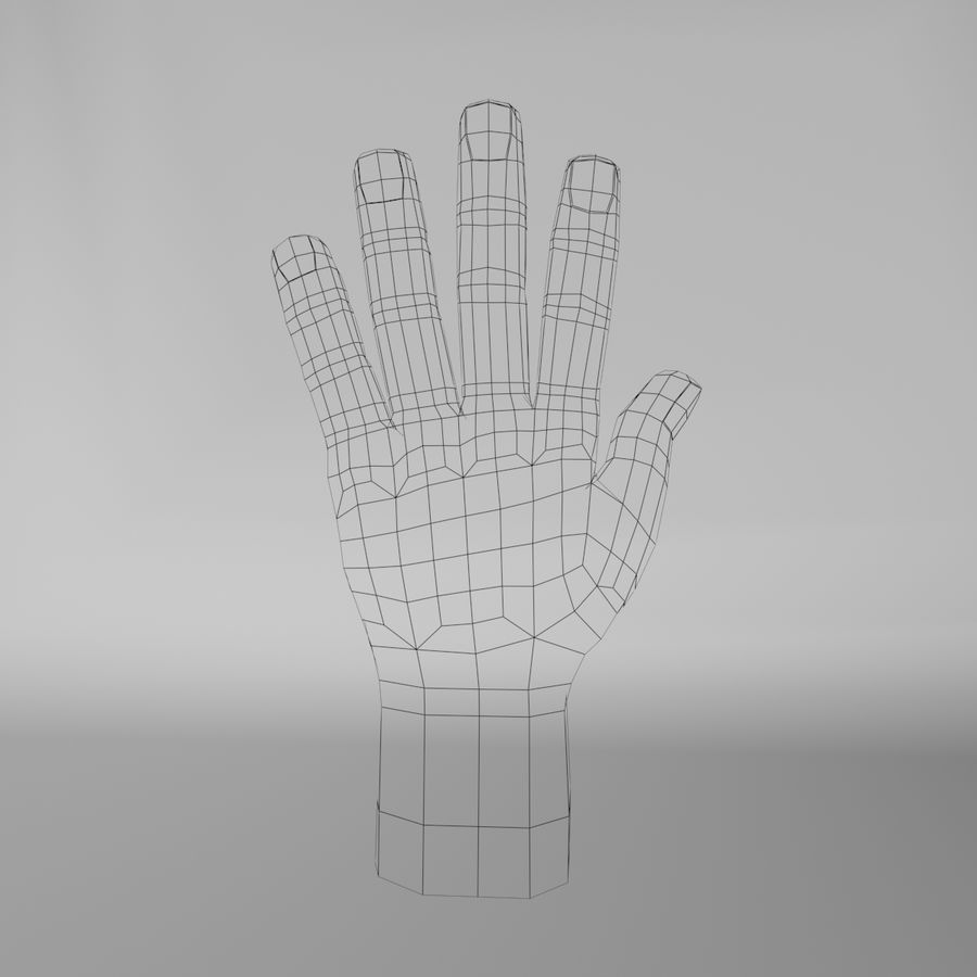 Toon Hand royalty-free 3d model - Preview no. 7
