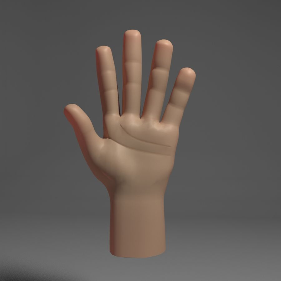 Toon Hand royalty-free 3d model - Preview no. 1