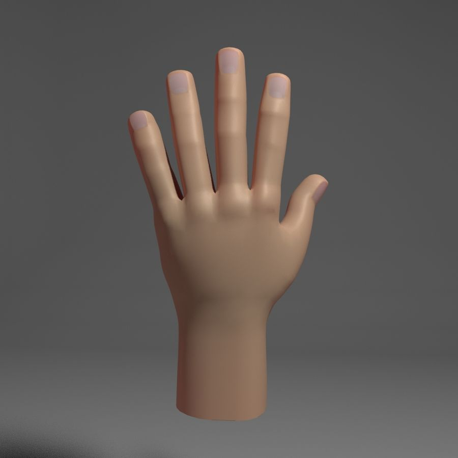 Toon Hand royalty-free 3d model - Preview no. 4