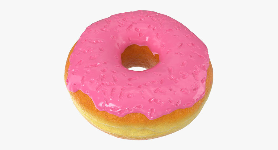Pink Donut 3D Model royalty-free 3d model - Preview no. 8
