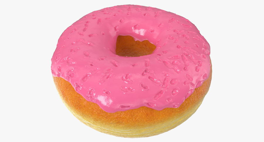 Pink Donut 3D Model royalty-free 3d model - Preview no. 2