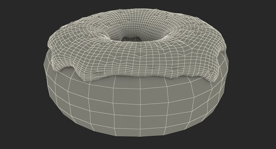 Pink Donut 3D Model royalty-free 3d model - Preview no. 18