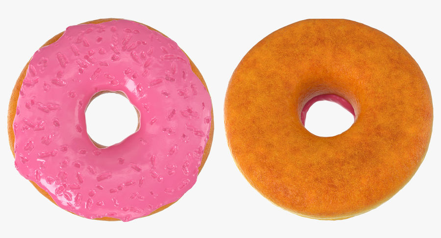 Pink Donut 3D Model royalty-free 3d model - Preview no. 4