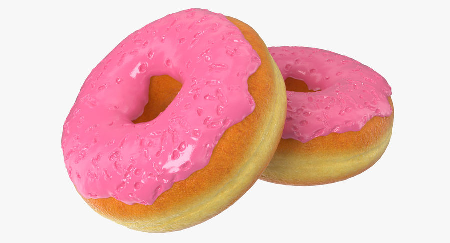 Pink Donut 3D Model royalty-free 3d model - Preview no. 6