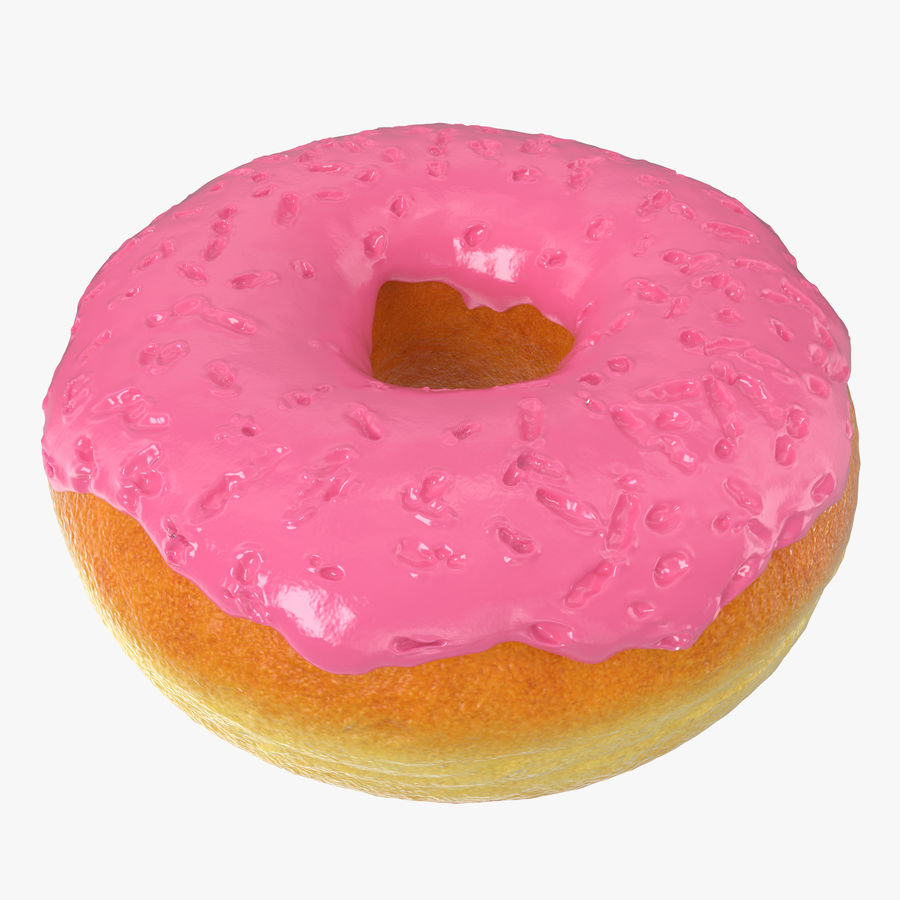 Pink Donut 3D Model royalty-free 3d model - Preview no. 1