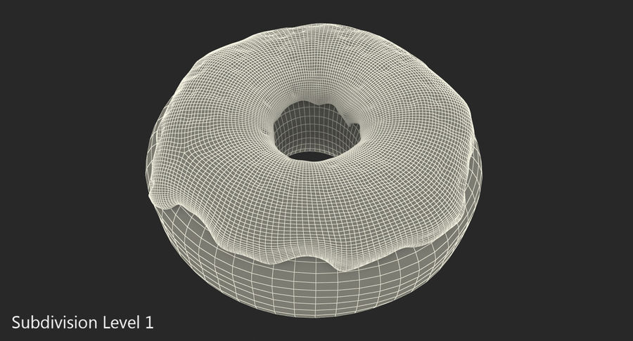 Pink Donut 3D Model royalty-free 3d model - Preview no. 11