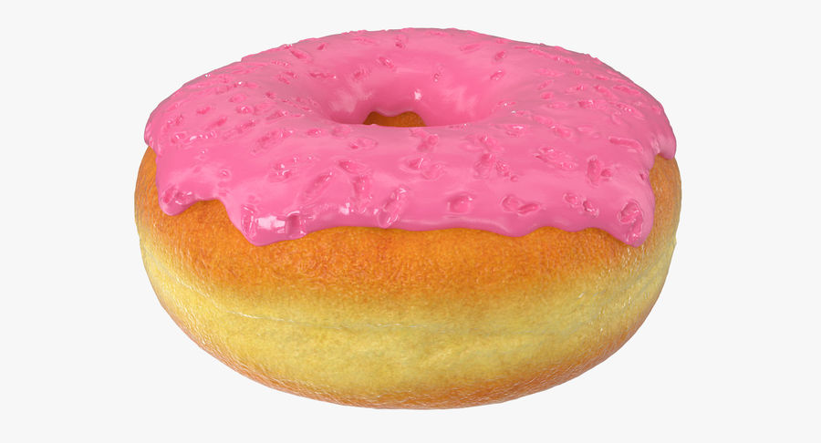 Pink Donut 3D Model royalty-free 3d model - Preview no. 5
