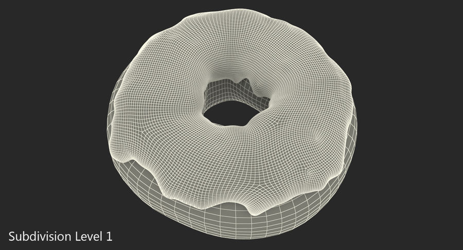 Yellow Donut 3D Model royalty-free 3d model - Preview no. 11