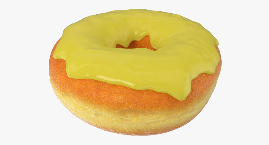 Yellow Donut 3D Model royalty-free 3d model - Preview no. 5