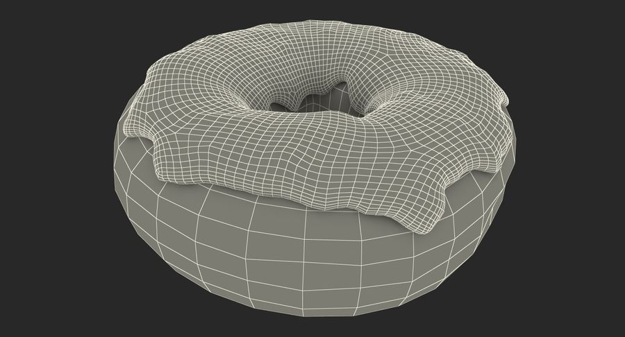 Yellow Donut 3D Model royalty-free 3d model - Preview no. 18