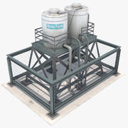 Water Tank Roof 3d model