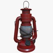 赤い油ランプPBRゲーム準備完了 3d model