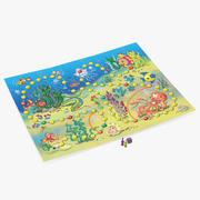 Jogo de tabuleiro Mundo subaquático 3d model