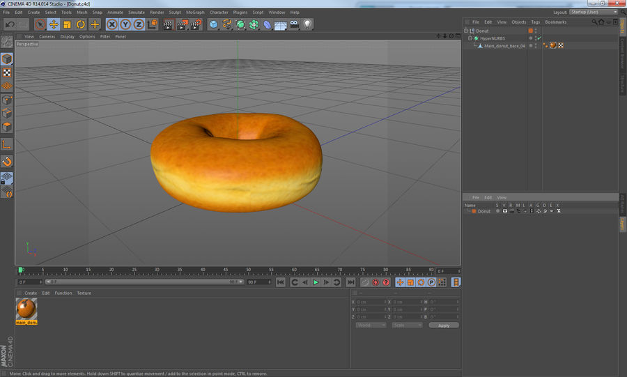 Donut royalty-free 3d model - Preview no. 13