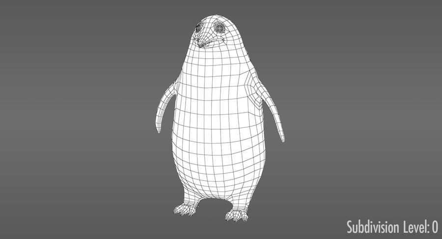 Cartoon Penguin - Rigged royalty-free 3d model - Preview no. 11